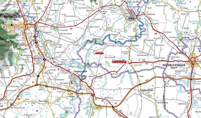 tiszadob térkép MAGYAR BARANGOLÓ: Tiszadob és Tiszavasvári tiszadob térkép