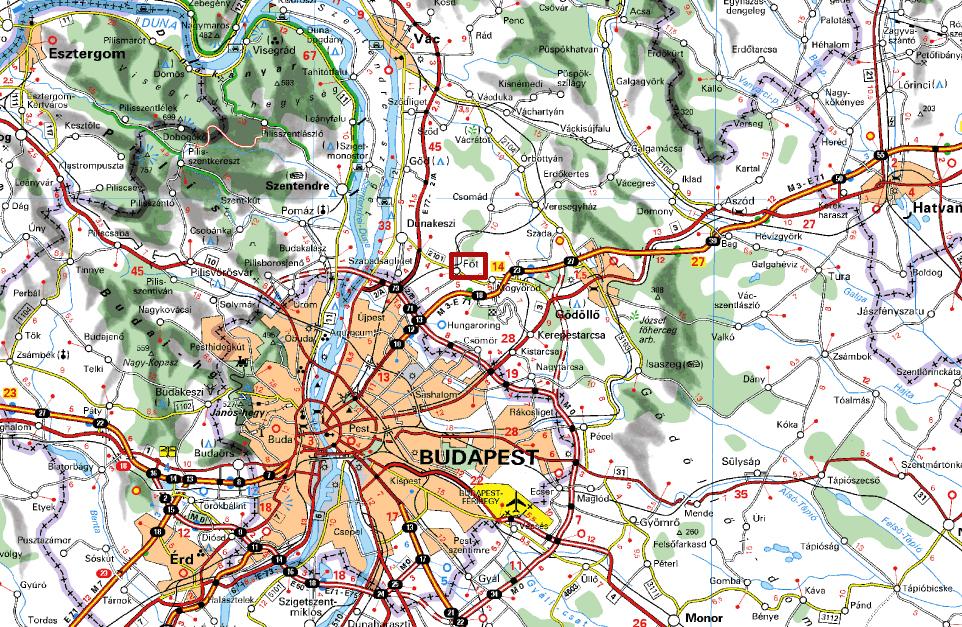 magyarország térkép fót MAGYAR BARANGOLÓ: Fót magyarország térkép fót