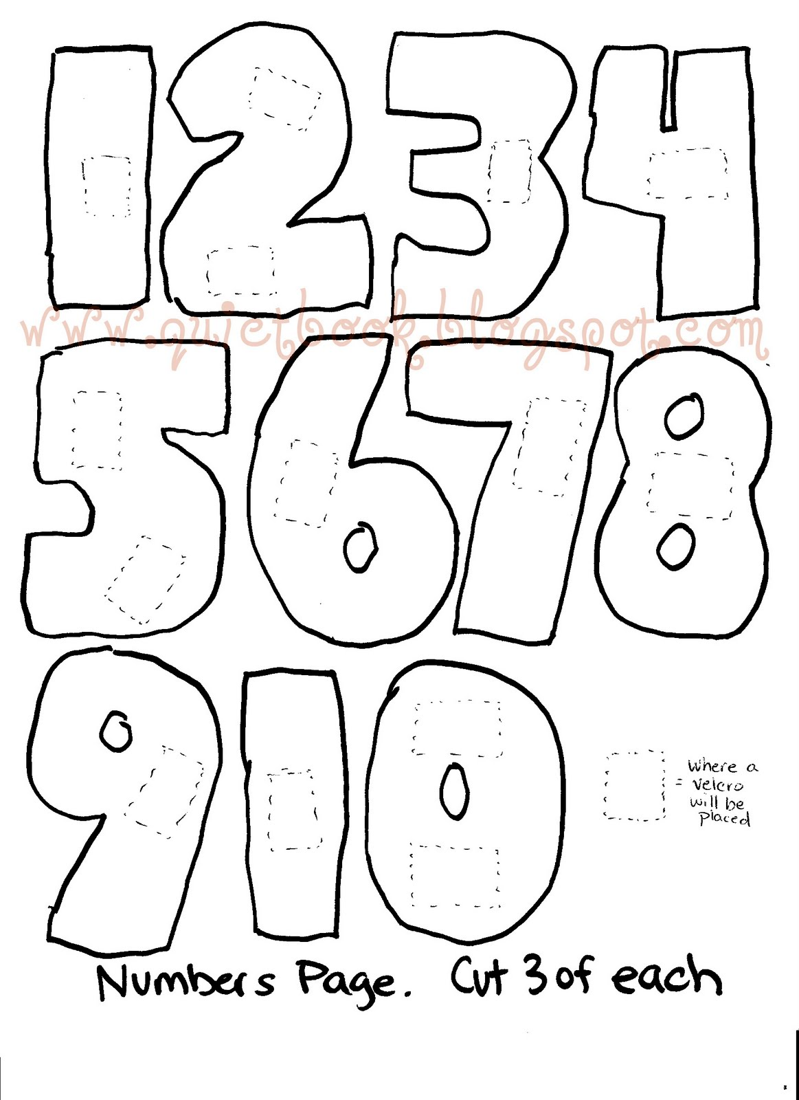 Number Templates Free. table numbers free printable and numbers on ...