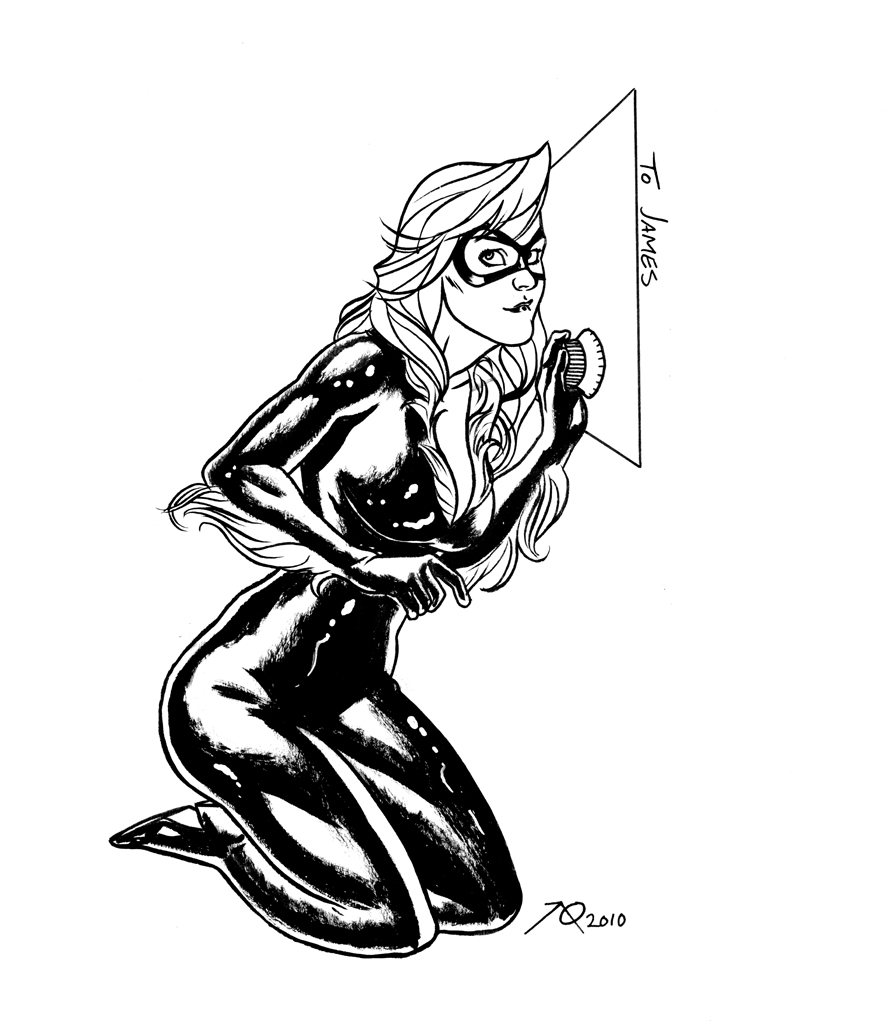 marvel black cat colouring pages