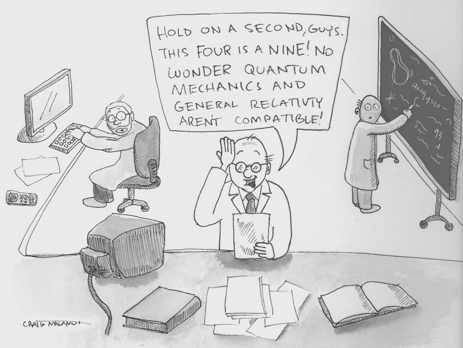 incompatibilità, relatività generale, meccanica quantistica
