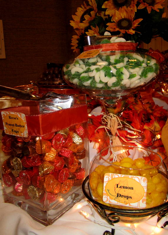 Leafy Tree Tops Fall Autumn Themed Candy Buffet