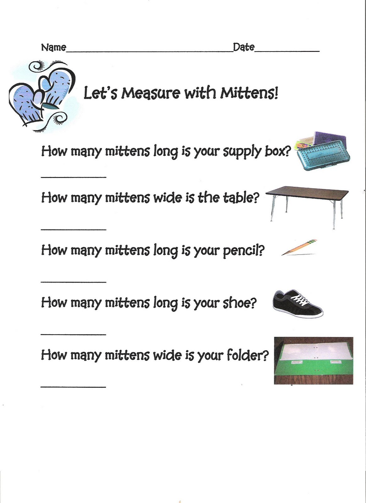 Worksheet Counting On Mitten Snow Flakes