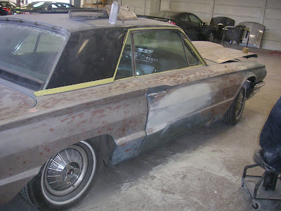 1964 Ford Thunderbird restored at Almost Everything Autobody