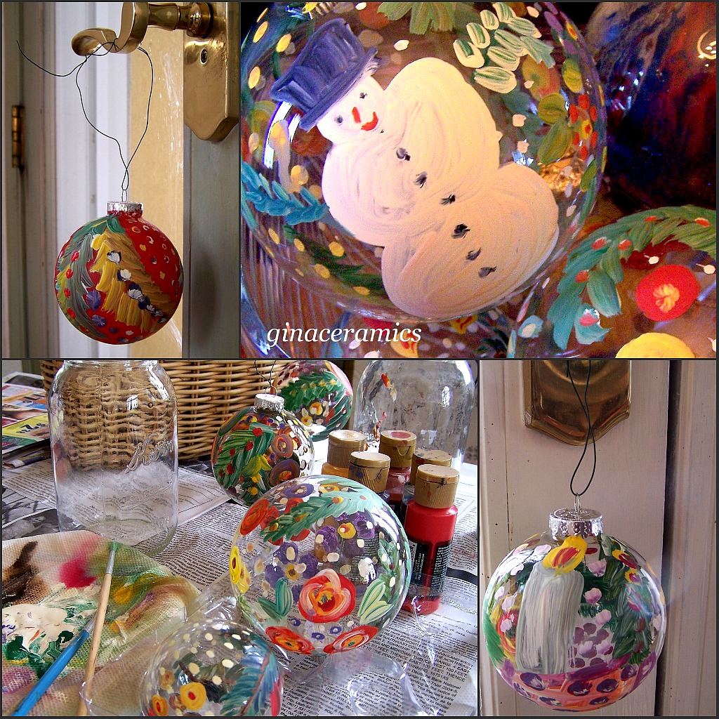 How To Decorate Glass Ornaments For Christmas: Art And Alfalfa: Hand Painted Glass Christmas Ornaments
