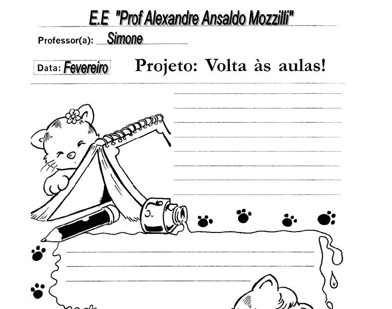 Projeto Volta As Aulas 01: AMIGA DA EDUCAÇÃO.: PROJETO VOLTA ÀS AULAS COM ATIVIDADES