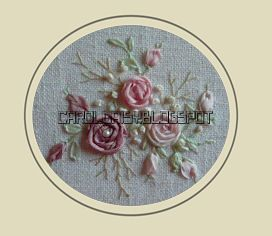 Silk Ribbon Embroidery Free Sre Design Spider Web Roses