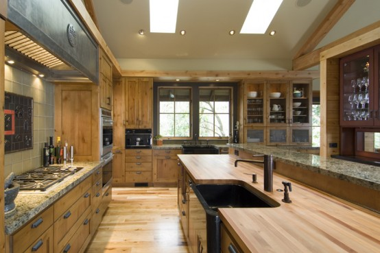 Home Interior Design: One of House With Natural Wood And ...