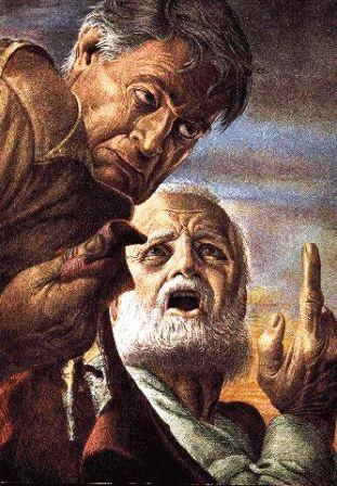 Samuel rebuking Saul by Guy (Giro) Rowe (1894-1968)