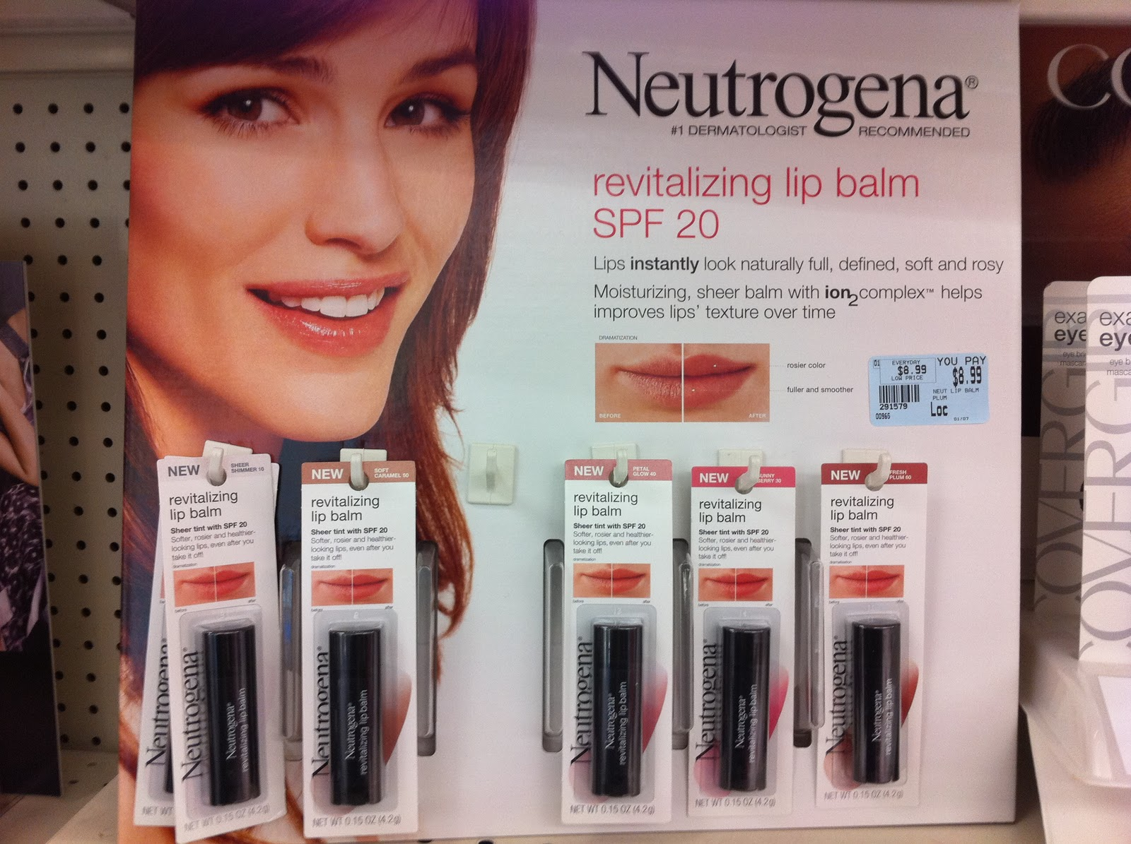 Some New Neutrogena Products First The Revitalizing Lip Balm With Spf 20