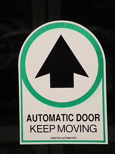 Strength For Your Journey Automatic Doors Ahead Just