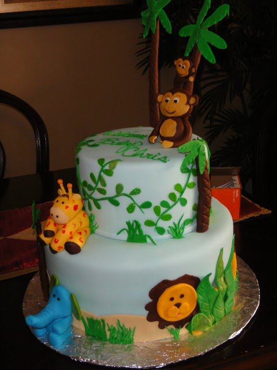 Cakes Themed Safari Baby Shower