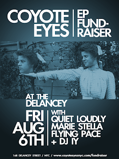 Coyote Eyes Plays A Fundraise Show at The Delancey on Aug. 6th