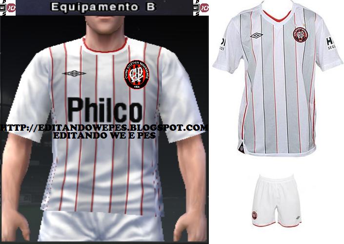 6d5354cadd Editando WE e PES  Uniforme Atlético-PR PES 2010