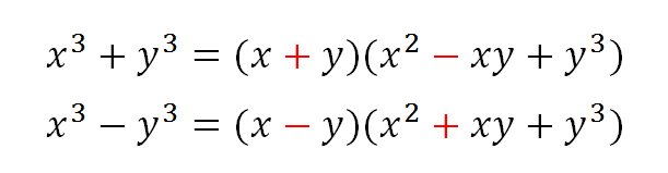 how to factor the sum of two cubes