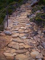 Stonework on Zig-Zag track (First 'Zag')