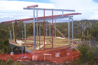 Progress on new visitor shelter, Hartz Mountains - 13th Jan 2007