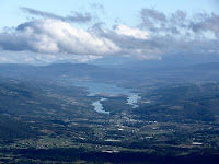 Huonville and the Huon River from Trestle Mountain - 17 May 2007