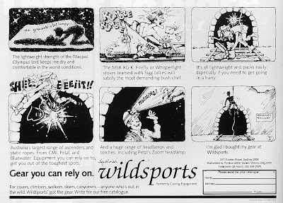 Gear you can rely on - Wildsports advert from Wild Magazine, Apr/May/Jun 1987