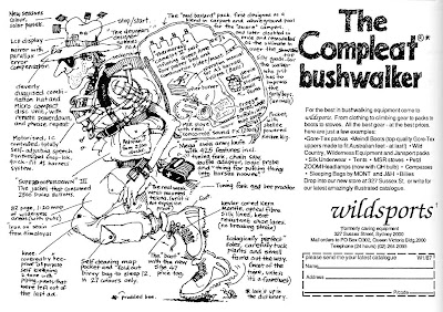 The Compleat Bushwalker - Wildsports advert from Wild Magazine, Jul/Aug/Sep 1987