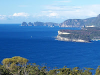 Cape Hauy and surrounds as viewed from the Pirates Bay Lookout - 11th August 2008