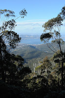 View of Hobart from Mount Wellington - 17th June 2010
