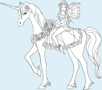 beautiful unicorn coloring pages - photo#32