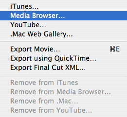 Unlocking iMovie '08: How to send movies to the Media Browser
