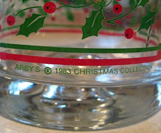Detail of Arby's Christmas Glass