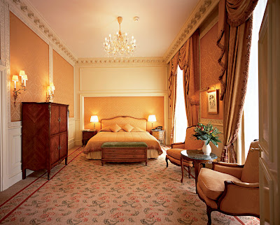 A Dreamy Gugelhopf in this Senior Suite Bedroom at Grand Hotel Wien Vienna
