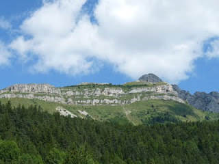 ヴィラール=ド=ランから見えるヴェルコールの山脈