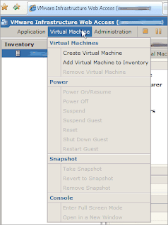 Virtual Machine Menu