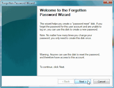 Welcome to the Forgotten Password Wizard
