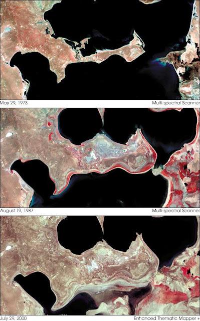 Foto Satelit Laut Aral 1979 - 2000