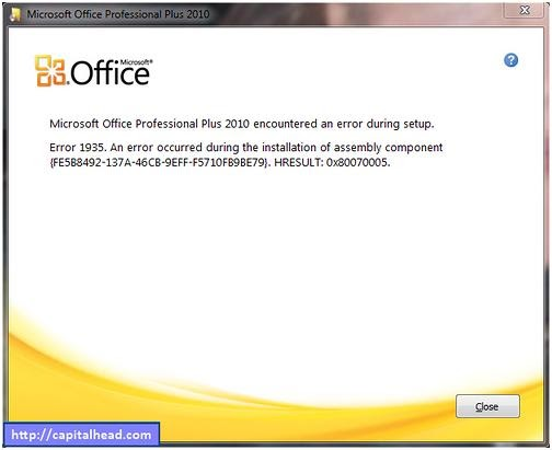 System Error 0x80070005 For Office 2016 Professional Hup And