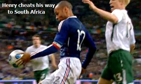 Thierry Henry's shameful handball (Nov. 2009)