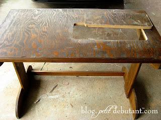 Diy Sewing Machine Table.Petit Debutant Diy Sewing Machine Table