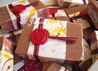 Detalles de boda Jabones de Vino Tinto