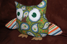 owl pillow gift