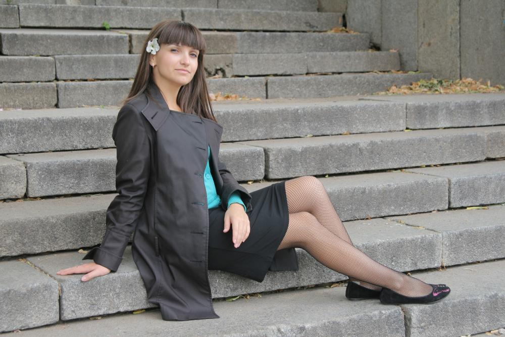 woman pictures pantyhose of wearing