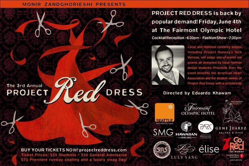 M s red dress in advert design