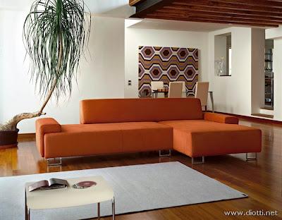 Forum Arredamentoit Colore pareti salone divano ARANCIO