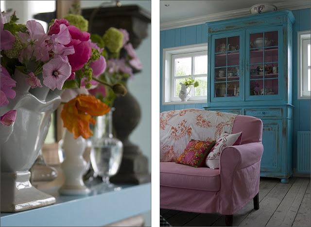 Colori vivaci si sposano con lo stile shabby shabby chic - Colori pareti cucina shabby chic ...