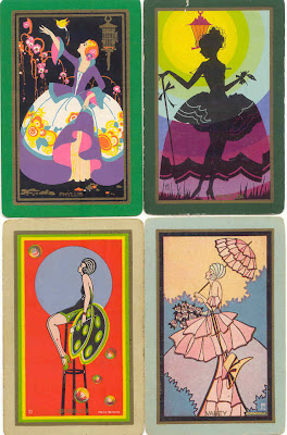 gold country girls: Vintage Playing Cards And Game Cards
