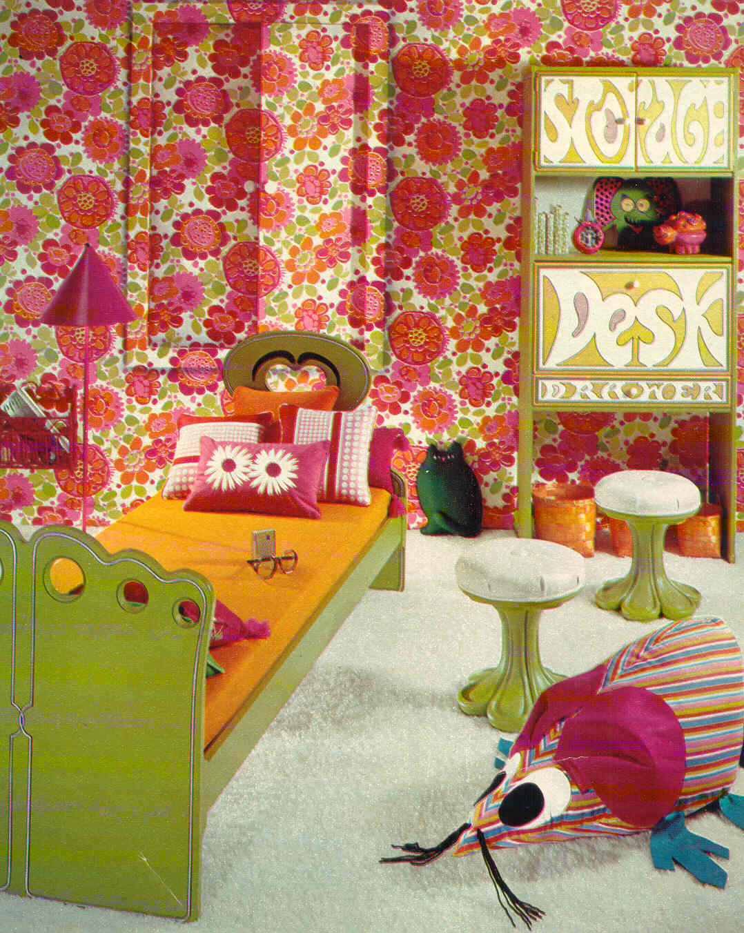70s inspired bedroom gold country bright and colorful 70 s bedrooms 10013