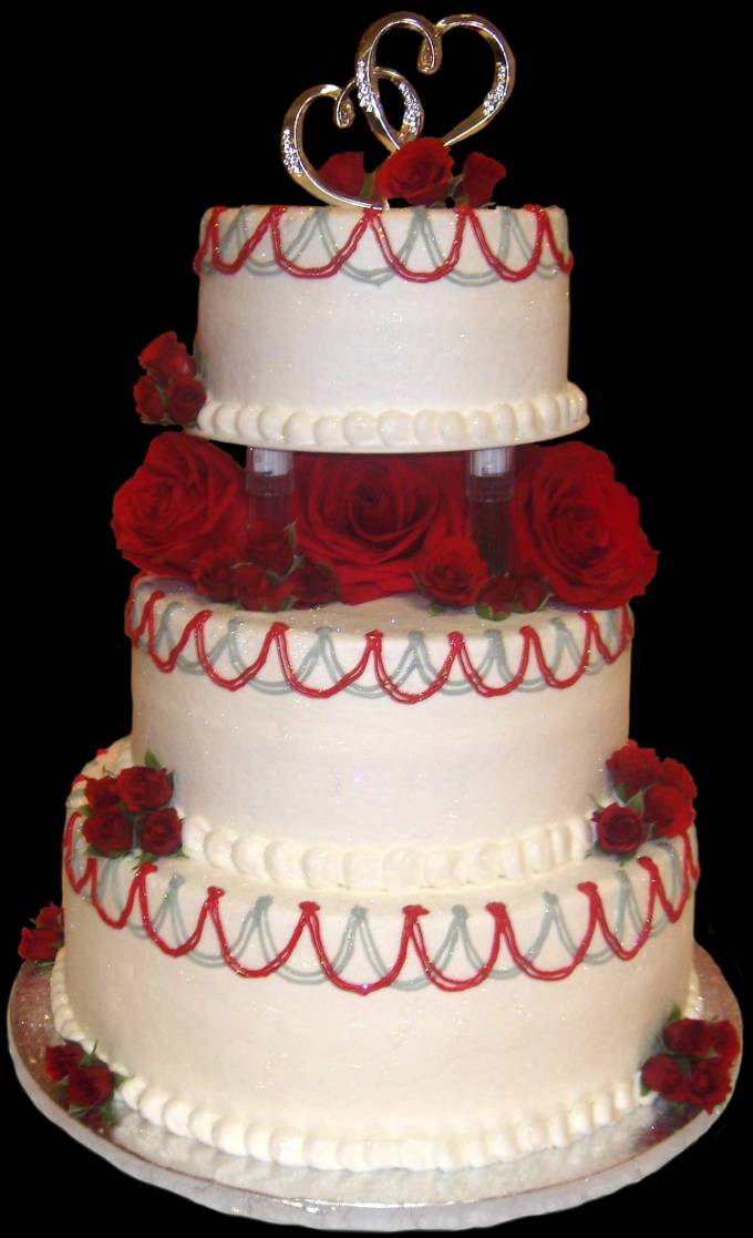 wedding cake red wedding accessories ideas 23659