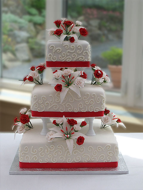 red and white wedding cake ideas wedding accessories ideas 19100