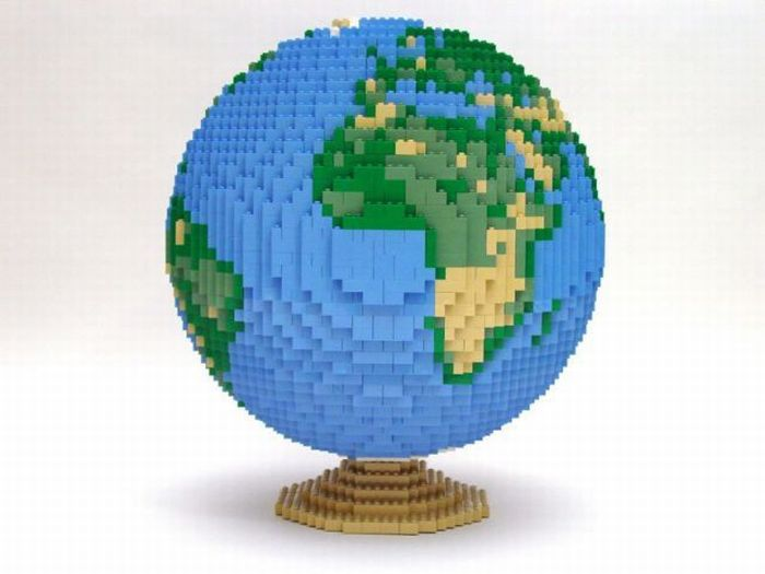 Famous places on earth in Lego