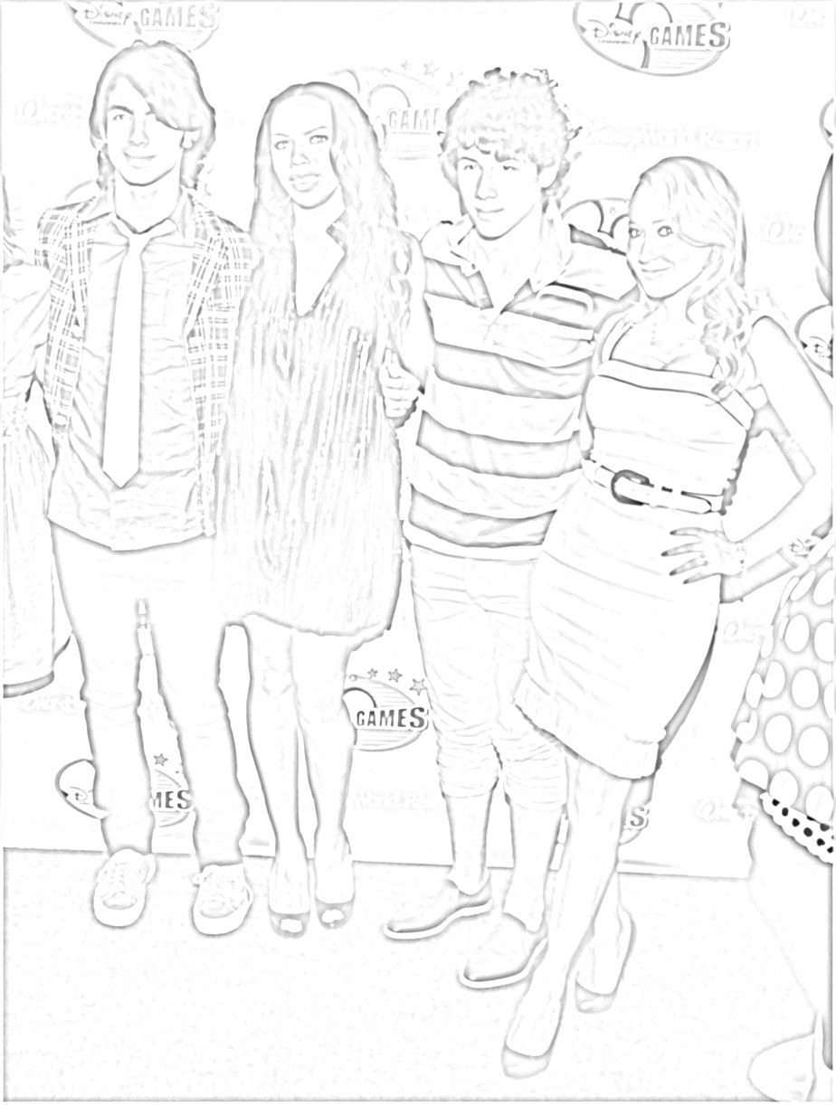 jonas brothers coloring pages on camp rock coloring pages printable
