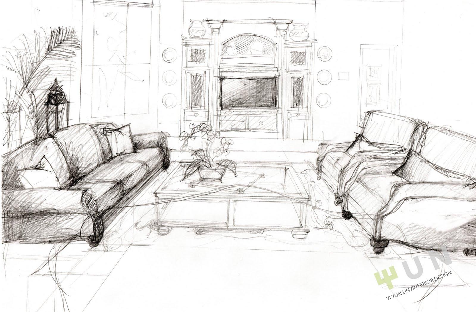 interior design sketches - Interior Design Sketches
